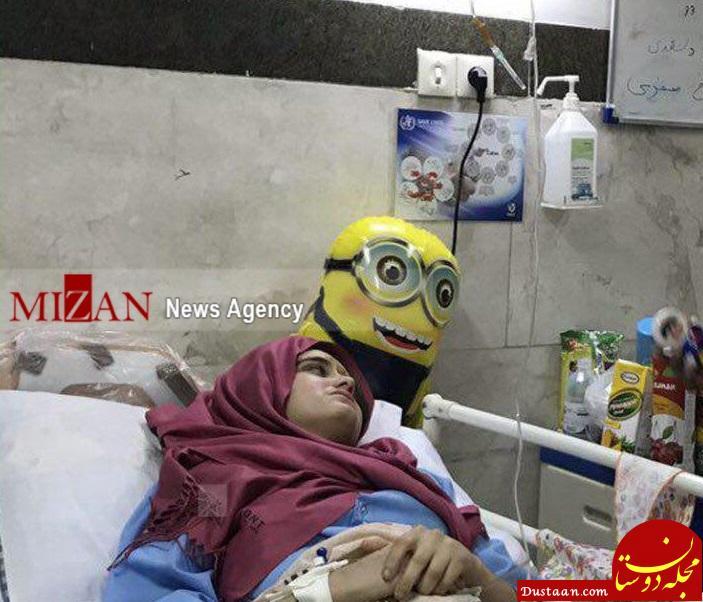 www.dustaan.com دختری که برای نجات خواهر 3 ساله خود از زیر آوار زلزله کرمانشاه قطع نخاع شد +عکس