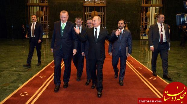www.dustaan.com دیدار پوتین و اردوغان در ترکیه +تصاویر