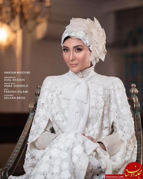 www.dustaan.com مدل آرایش عروس به سبک مریم معصومی + تصاویر