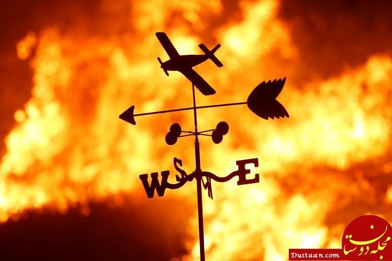 www.dustaan.com آتش سوزی گسترده کالیفرنیا در آخرین روزهای سال میلادی +عکس