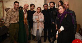 مهناز افشار، بهرام رادان و نوید محمدزاده در پشت صحنه الیورتوئیست + عکس