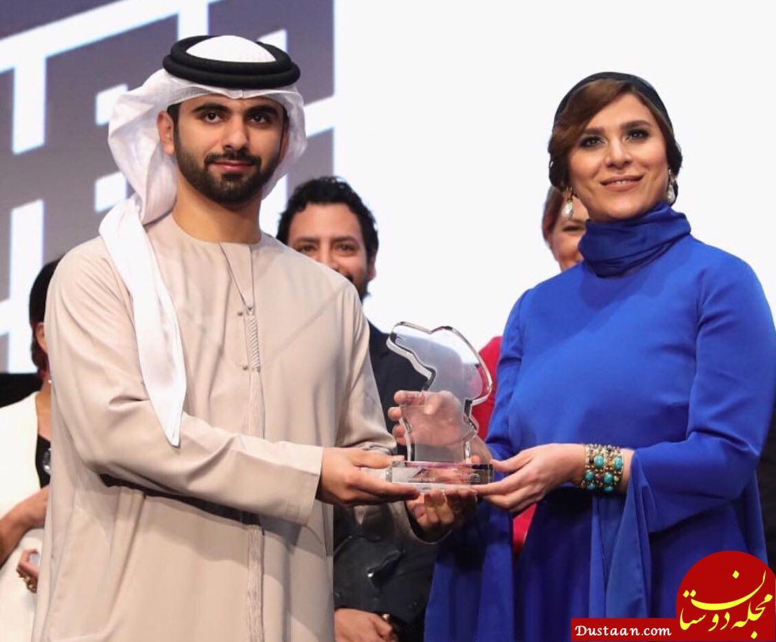 تیپ متفاوت سحر دولتشاهى در اختتامیه جشنواره فیلم دبی +عکس