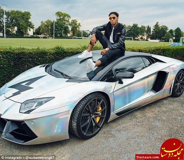 www.dustaan.com سریع ترین فوتبالیست دنیا در کنار سریع ترین خودروی جهان + عکس