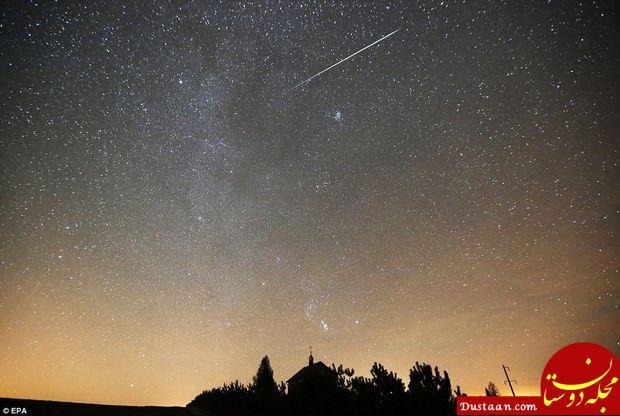 www.dustaan.com تصاویری بسیار زیبا از بارش شهابی جوزایی در آسمان شب