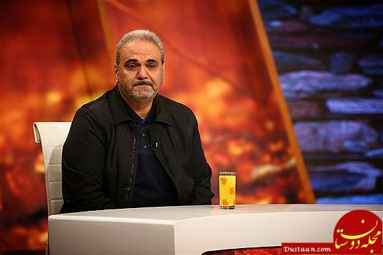 www.dustaan.com اشک های جواد خیابانی در برنامه زنده +عکس