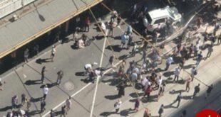 حمله راننده خودرو به عابران در ملبورن +عکس