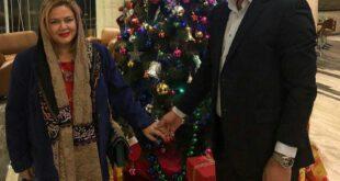 کریسمس بازیگر زن و همسر جدیدش