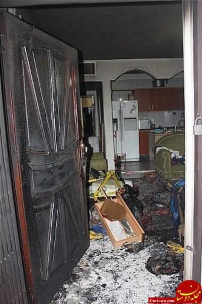 دختر 15 ساله از ترس آتش سوزی به اتاق خواب پناه برد +تصاویر