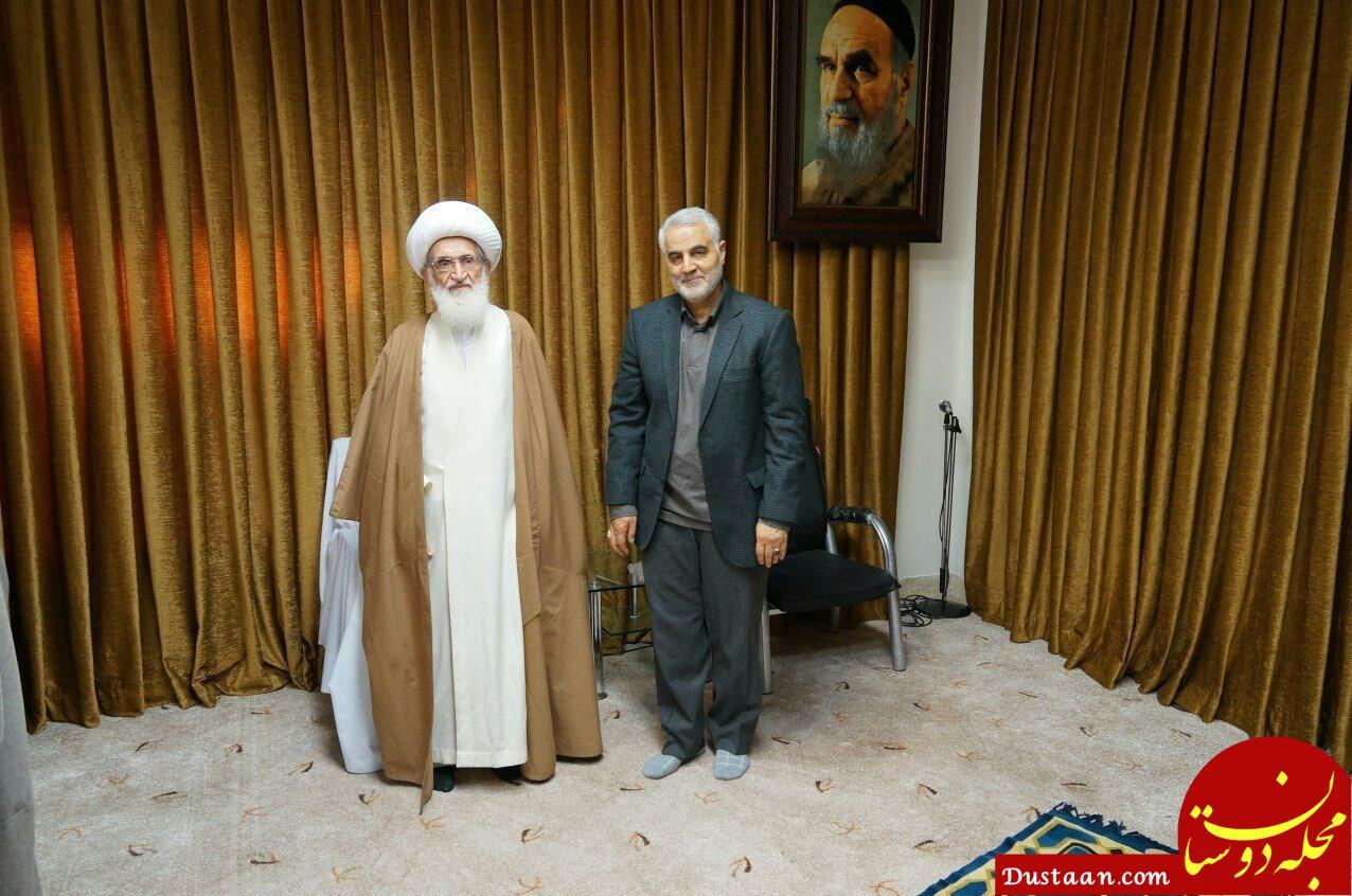 دیدار سردار سلیمانی با آیت الله نوری همدانی + عکس