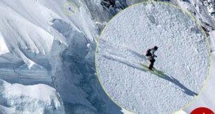 فرار دیدنی اسکی باز حرفه ای از سقوط بهمن! +تصاویر