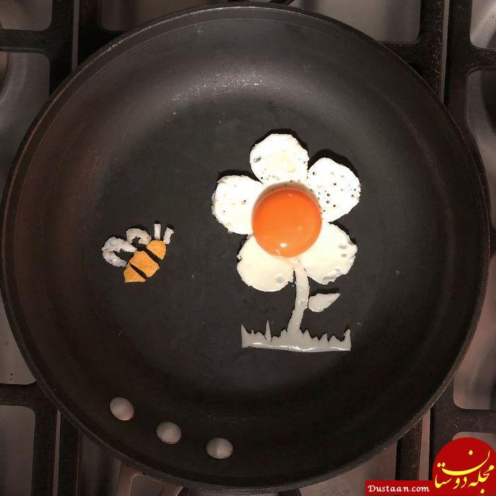 www.dustaan.com تصاویری جالب از خلاقیت هنرمندانه با تخم مرغ