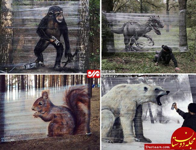 اخبار,اخبار گوناگون,نقاشیهای باورنکردنی روی ورقه پلاستیکی