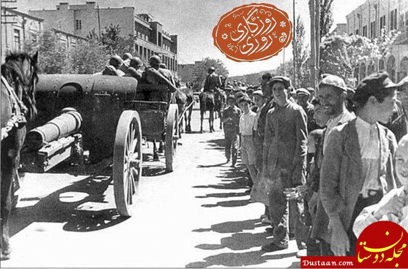www.dustaan.com عکس دیده نشده از اشغال ایران توسط نیروهای متفقین