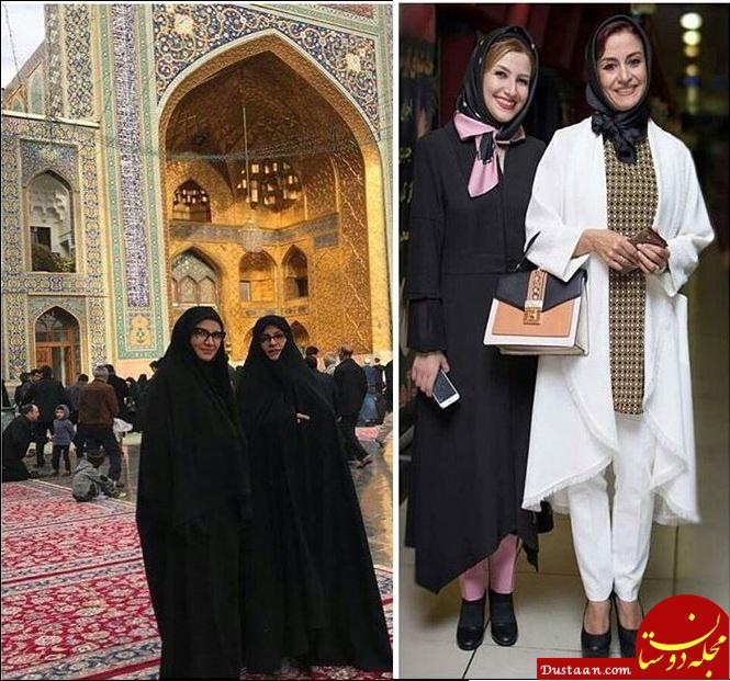 www.dustaan.com تیپ متفاوت خواهران هنرمند در مشهد مقدس +عکس