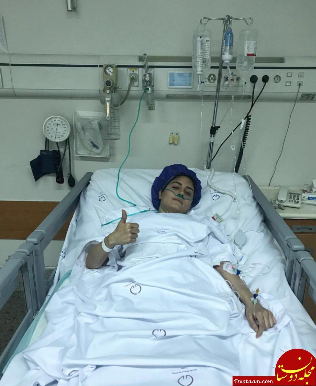 www.dustaan.com الناز شاکردوست روی تخت بیمارستان +عکس