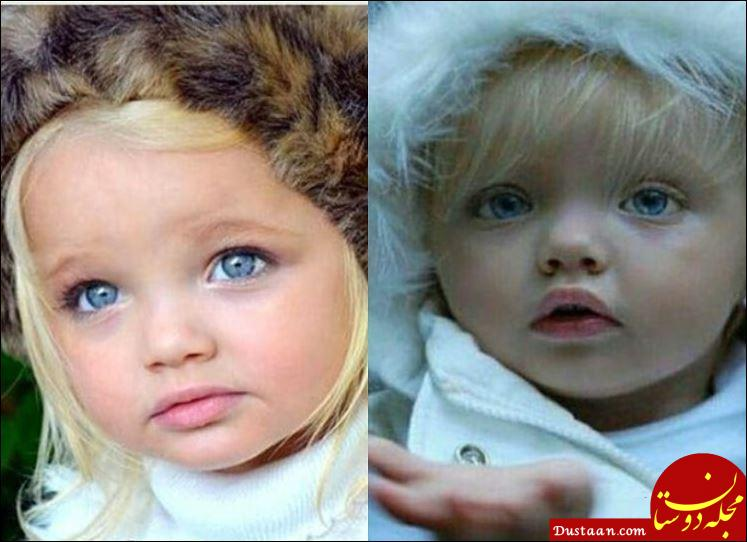 www.dustaan.com دختری که به خاطر زیبایی به عروسک زنده معروف شده است! +عکس