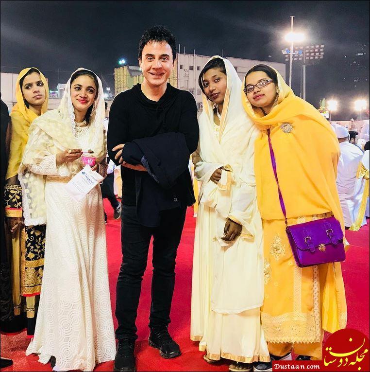 www.dustaan.com چهره خندان عمو پورنگ در کنار دختران دم بخت هندی! +عکس