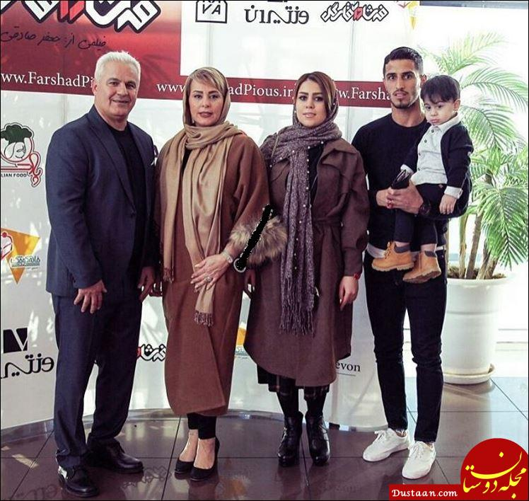 www.dustaan.com عکس دیدنی از دو گلزن پرسپولیس در کنار همسرانشان