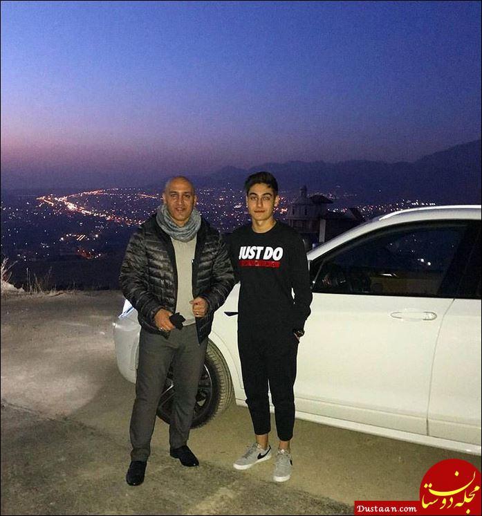 www.dustaan.com علیرضا منصوریان و پسرش امیر در یک قاب +عکس