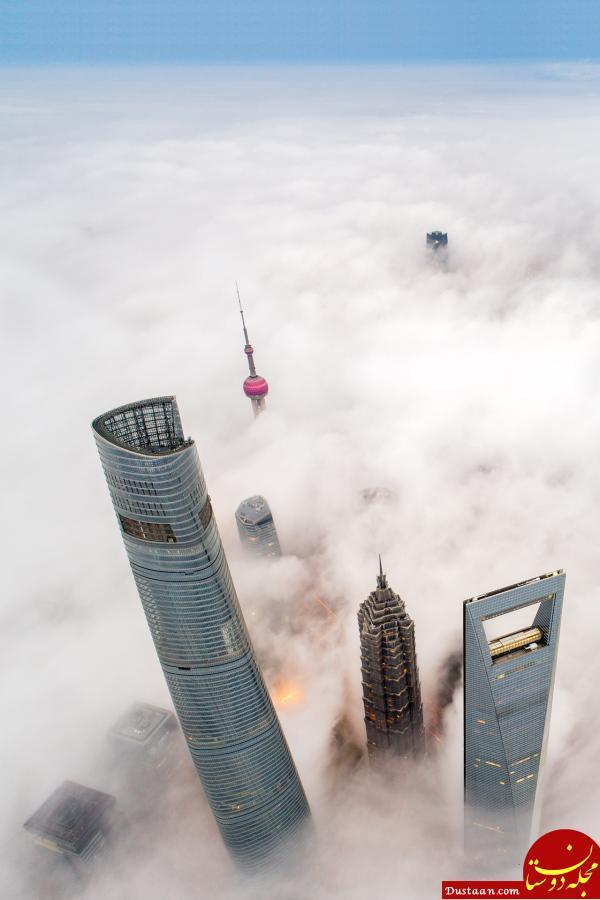 www.dustaan.com عکس های بسیار زیبا از مه غلیظ در «شانگهای» چین
