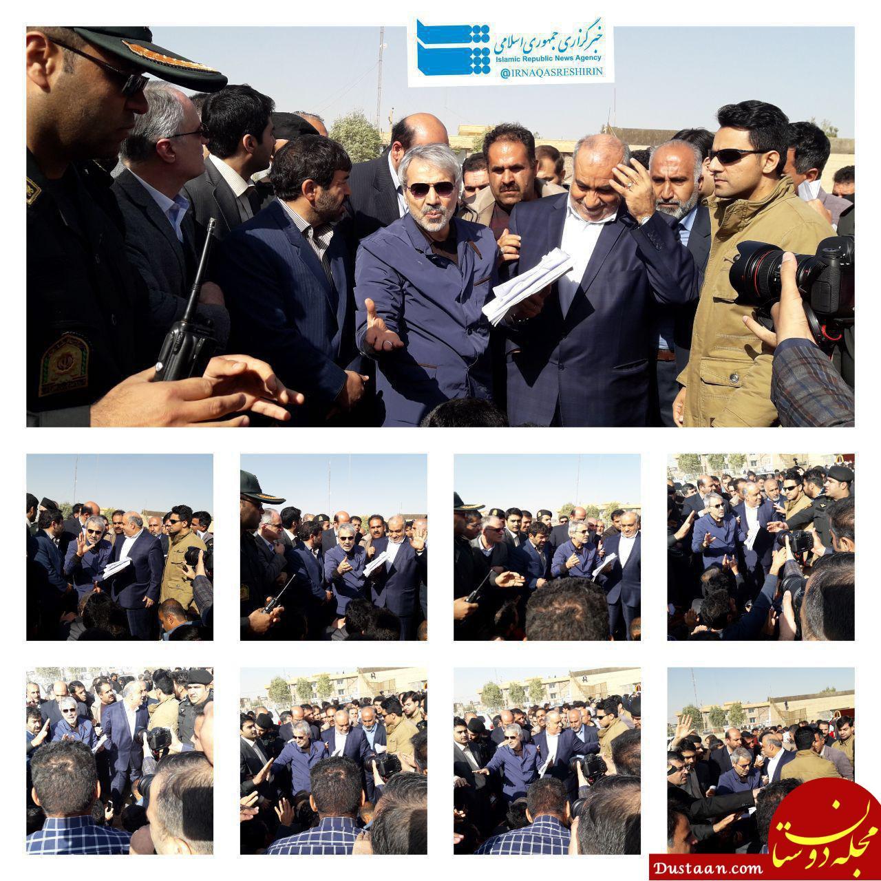 www.dustaan.com بازدید نوبخت از مناطق زلزله زده کرمانشاه +عکس