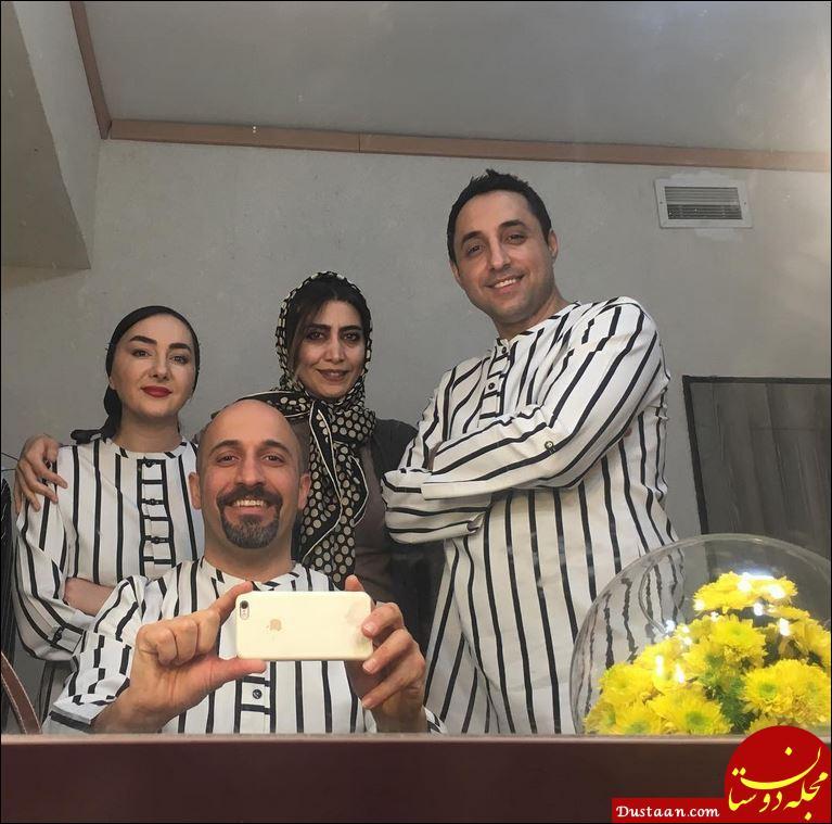 www.dustaan.com تیپ متفاوت امیرحسین رستمی و هانیه توسلی در نمایش قدم زدن با اسب +عکس