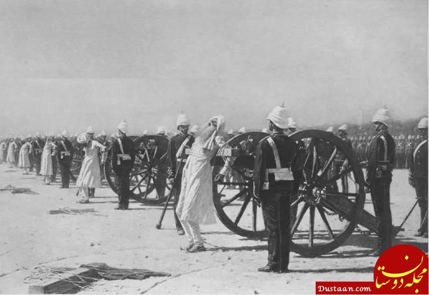 www.dustaan.com جنایات هولناک استعمارگران انگلیسی در هند +عکس