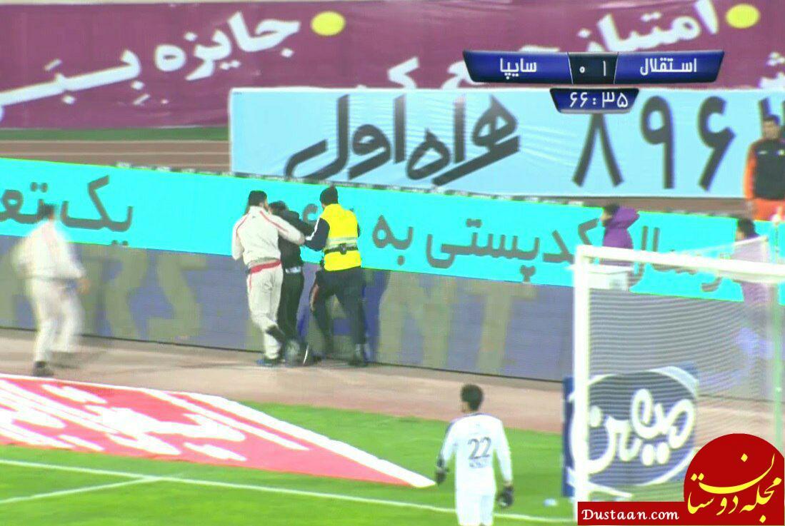 www.dustaan.com اقدام عجیب یک هوادار در جریان بازی استقلال و سایپا +عکس