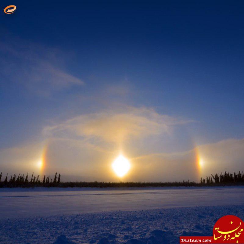www.dustaan.com پدیده 3 خورشید در آسمان چیست؟ +عکس