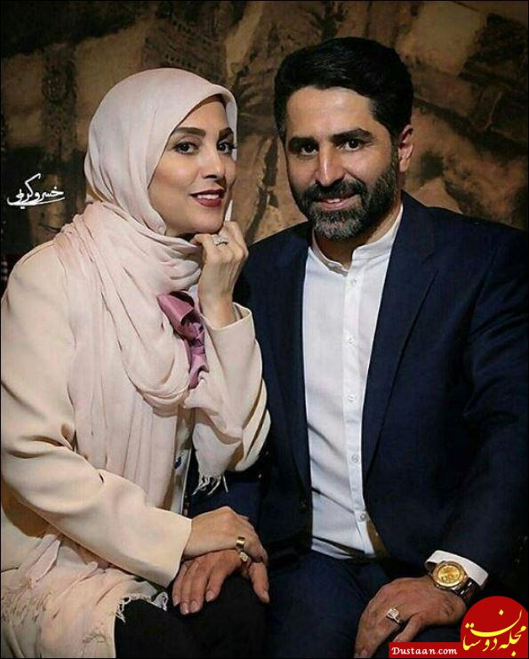 www.dustaan.com ژیلا صادقی و همسرش و همسرش در یک قاب