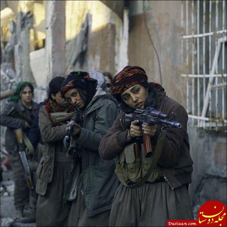 www.dustaan.com ظاهر متفاوت گلشیفته فراهانی در نمایی از فیلم «دختران آفتاب» +عکس