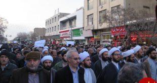 تجمع مردم زنجان علیه اغتشاشگران +تصاویر