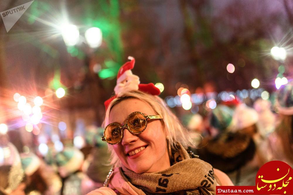 تصاویری دیدنی از رژه دختران برفی در مسکو
