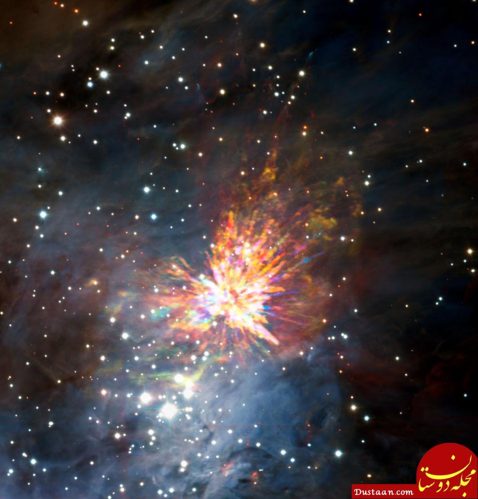 برخورد دو ستاره در فضا