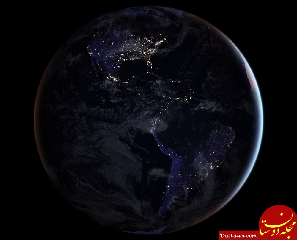 زمین در نیمه شب