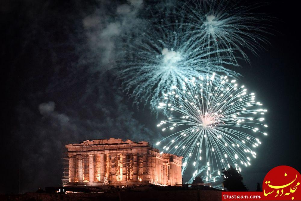 آتش بازی جشن سال نو در یونان