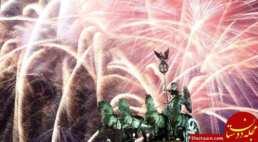 آتش بازی جشن سال نو در آلمان