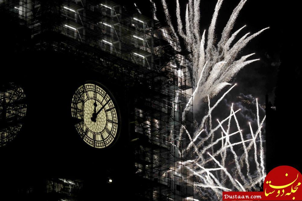 آتش بازی جشن سال نو در لندن