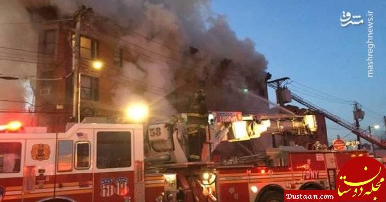 آتش سوزی شدید در نیویورک آمریکا +تصاویر