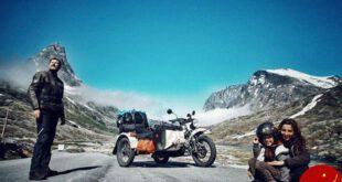 زن و شوهر جوانی که به وسیله موتورسیکلت دور دنیا می چرخند! +تصاویر