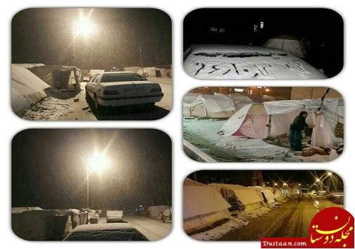 www.dustaan.com بارش برف در مناطق زلزله زده کرمانشاه +تصاویر