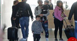 تصاویری جدید از لیونل مسی در کنار همسر و فرزندانش