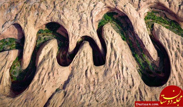 www.dustaan.com عکس روز نشنال جئوگرافیک از دره ای پر پیچ و خم در آمریکا