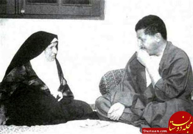www.dustaan.com مرحوم هاشمی رفسنجانی در کنار مادر +عکس