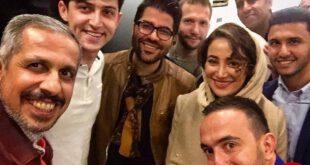 چهره ها/ «حامد همایون» و جمعی از ستاره ها در کافه «جواد رضویان»