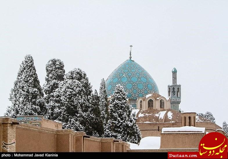 www.dustaan.com بارش اولین برف زمستانی در کرمان +تصاویر