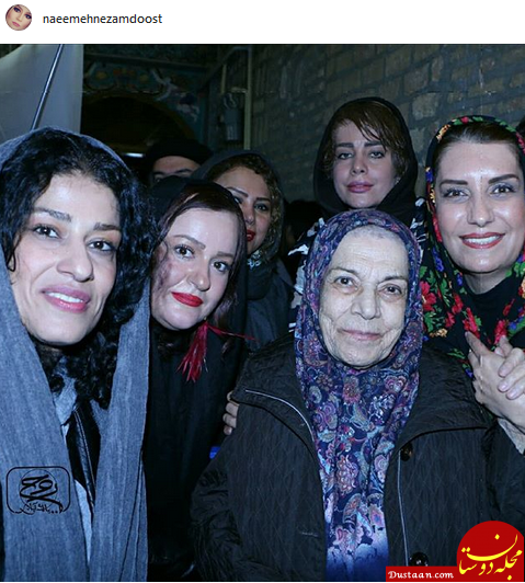 www.dustaan.com سلفی دسته جمعی هنرمندان در کنار بازیگر پیشکسوت +عکس