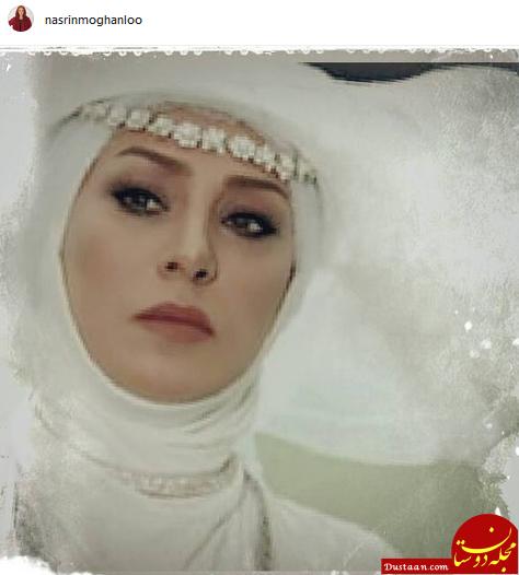 www.dustaan.com نسرین مقانلو در لباس عروس! +عکس