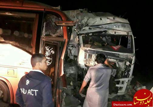 www.dustaan.com تصادف شدید اتوبوس با کامیون در سیستان و بلوچستان +اسامی مصدومین