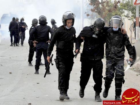 www.dustaan.com شورش مردم علیه گرانی در کشور تونس +تصاویر